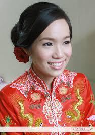 chinese tradition bridal kua makeup hair