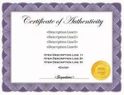 Certificate Of Authenticity Template Best 48 Printable Certificate Of Authenticity Templates DOC PDF EPS