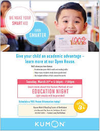 Kumon Math And Reading Education Night Open House At Kumon Math Reading Center Of