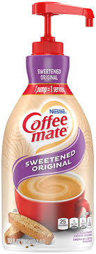 This liquid coffee mate creamer makes it easy to add just the right amount of hazelnut flavor; Coffee Mate Pump Bottle Original Nestle Professional