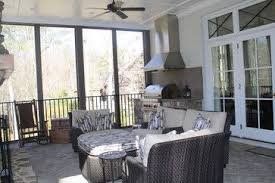Outdoor Living Great Idea To Incorporate A Vent Hood Over A Gas Grill Under Cover Of Porch Or Breezeway Porch Grill Traditional Porch Porch Design