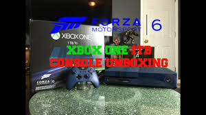 xbox one forza motorsport 6 limited edition 1tb console unboxing