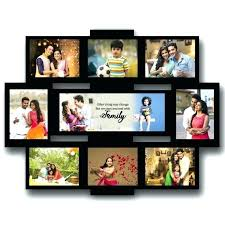 large picture frame collage family photo frame personalised wooden multi photo family collage rectangular frame large