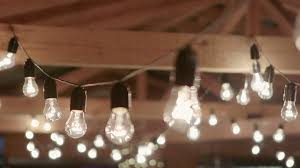 lighting on wall. Light Bulbs Garland Close Up. Electric Bulb Shine Hanging On Wall As Decoration For Holiday Up Stock Video Footage - Videoblocks Lighting G