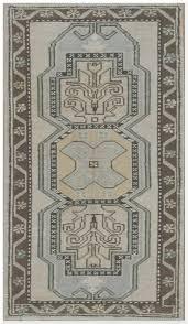 small vintage handmade antique washed turkish rug