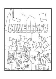 Coloring Pages Free Printable Minecraft Coloring Minecraft