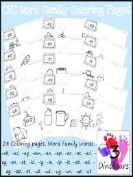 Word Family Coloring Pages Eg Word Family Worksheets
