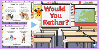 Would You Rather Quiz Powerpoint Game End Of Year End Of Term