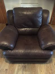 brown leather reclining gaming chair