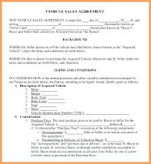 Personal Car Sale Agreement Private Car Sale Agreement Template Sales 6 Free Used