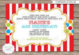 26 Carnival Birthday Invitations Free Psd Vector Eps Ai Format