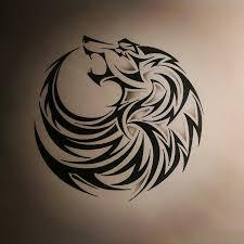 Tribal Wolf Tattoo By Dirtfingerdeviantartcom Tatuaggi