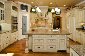This Traditionally Styled Kitchen Centers On A Massive Island Filled With  Cabinetry And A Full Sink