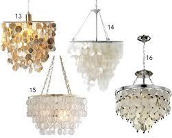 16 capiz shell pendants chandeliers in pendant light decor 3