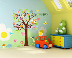 wall decals kids room giant nursery wall decal scroll tree owl jungle animal wall sticker kids