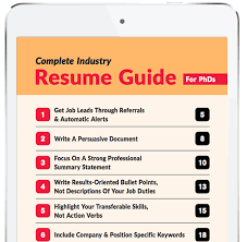 Resume Guide New Complete Industry Resume Guide For PhDs