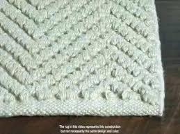 knit rug view in gallery wool