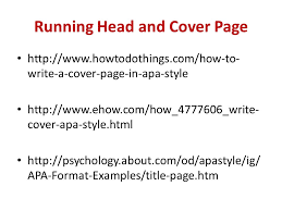 Apa Style Title Page Example Running Head And Cover Page Write A Cover Page In Apa Style Cover