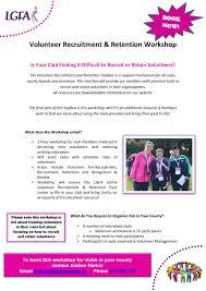 volunteer recruitment retention toolbox ladies gaelic football volunteer workshop flyer