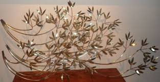 leaf metal wall decor with vintage huge metal wall art leaf branch inside most recent metal