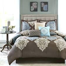 brown and blue king size comforter sets light full bedding home improvement