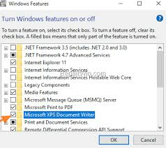 cannot install xps viewer in windows 10