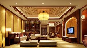 Living Room Lights Antique Chinese Living Room Idea Lighting Night Rendering Home