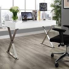 chrome office desk. samuel white desk modern with chrome legs perfect for a girls home office m