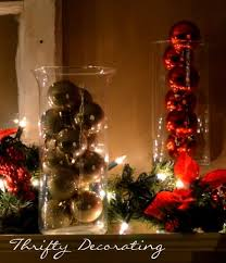 Decorating With Christmas Balls And Vase