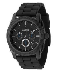 fossil men s chronograph machine black silicone strap watch 45mm fossil men s chronograph machine black silicone strap watch 45mm fs4487