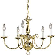 p4346 10 americana polished brass five light chandelier