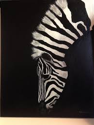 items similar to zebra painting on canvas on