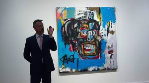 at 110 5 million basquiat painting becomes priciest work ever sold by a u s artist