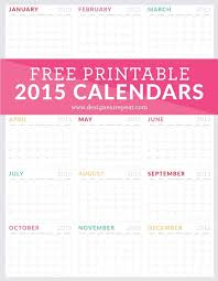 The 2013 calendar printable turned out to be quite popular last year so i thought i would make another set for 2014. Free Printable 2015 Monthly Calendar
