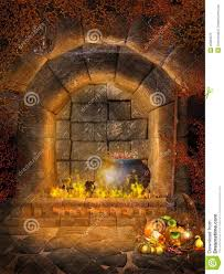 royalty free stock photo fantasy fireplace with bats