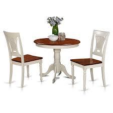 amazon com east west furniture anpl3 whi w 3 piece kitchen nook