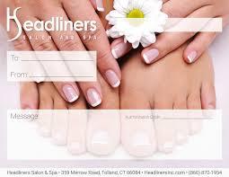 gift certificate manicure pedicure