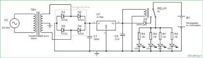 light circuit diagram emergency light circuit diagram