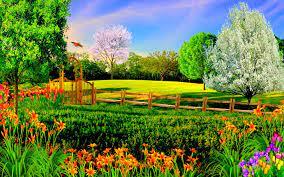 Nature Garden Wallpaper Full Hd