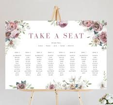 Seating Chart Design Spring Blossoms Seating Chart Ficus And Fig Design Custom Wedding Invitations Australia