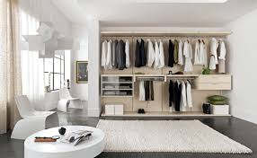 Small Bedroom With Walk In Closet U Shaped White Stained Wooden Walk Closet For Small Bedroom Ideas