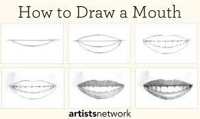drawing step by step for beginners. Contemporary Step Learn How To Draw A Mouth And Other Free Tutorials On Drawing For Beginners On Drawing Step By For Beginners Artists Network