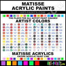 Matisse Colour Chart Matisse Acrylic Paint Brands Matisse Paint Brands Acrylic