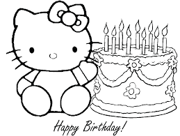 Hello Kitty Coloring Pages Printable Hello Kitty Coloring Pages To