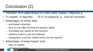 a comparison of online and paper based test results sanja auml andrli auml  conclusion 2 transition from paper based to online tests essay >