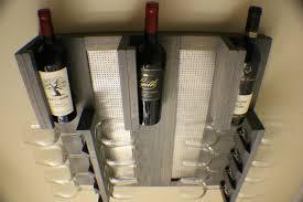 Wine Racks For Kitchen Cabinets Vintage Wood Wall Mounted Wine Rack Shelf Three Bottle Holder Four