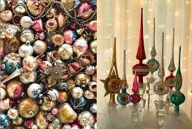 Christmas Ornaments Retro Vintage Holiday