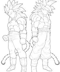 Goku Super Saiyan 4 Coloring Pages At Getdrawingscom Free For