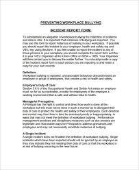 Employee Incident Report Template Employee Incident Report