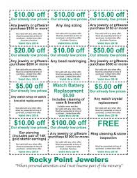 Downloadable Coupons Rocky Point Jewelers Downloadable Coupons